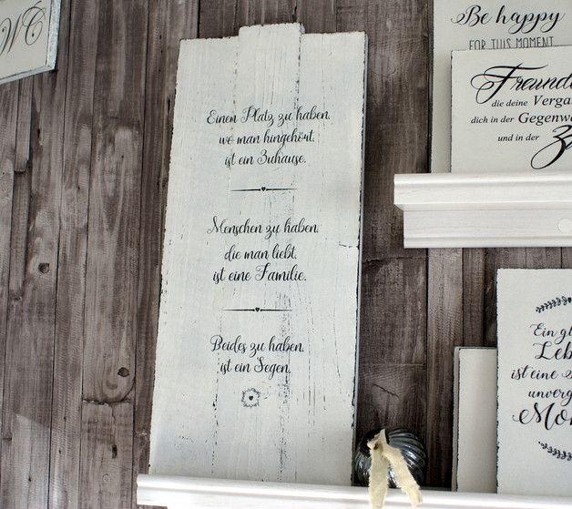 Schild Weihnachtsregeln Shabby Chic Holzschild Weihnachten: **Schild Holz Einen Platz Zu Haben ... Shabby Chic
