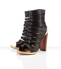 Christian Louboutin Decoupata Calf Peep Toe Booties Black This website has Christian  Louboutin for half off!