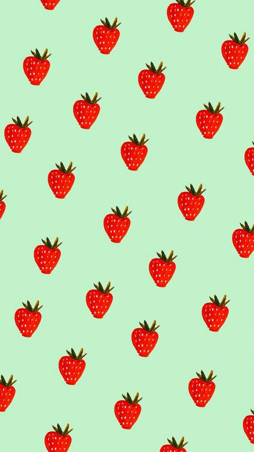 Strawberry Wallpaper And Fruits Image Watermelon Wallpaper Fruit Wallpaper Wallpaper Iphone Cute