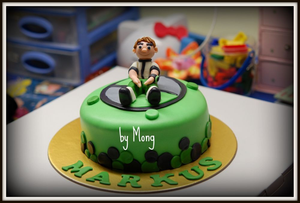 Ben 10 Ben 10 Is Molded Out Of Fondant Sitting On A 6