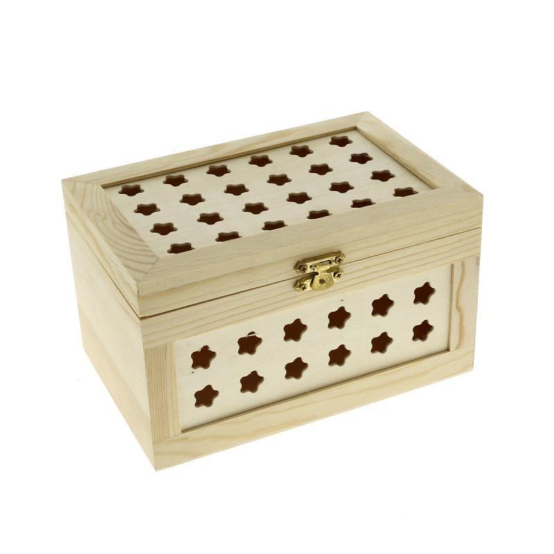 compra nuestros productos a precios mini cofre estrellas de madera para decorar x