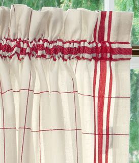 High Quality COZY HOME CHRONICLES: Red Check Kitchen Curtains