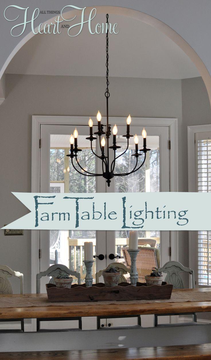 Lighting over the Farmhouse TableThe Winner Farmhouse