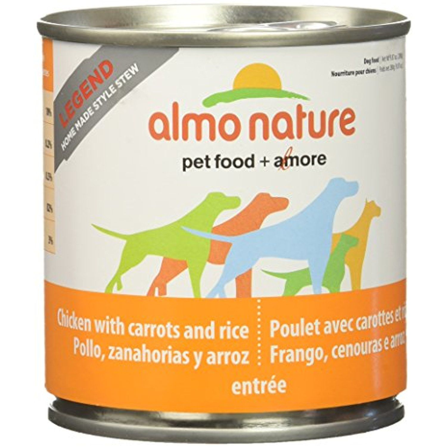 Almo Nature 2152 Legend Dog Chicken With Carrots Home Made Style Pet Food 12 X 280 G 9 87 Oz You Can Click On T Food Animals Best Dog Food Dog Food Recipes