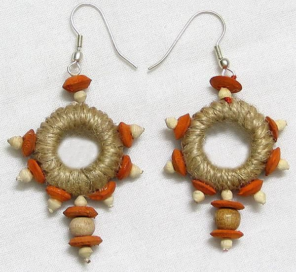 Jute Earrings Handmade Tel Earing