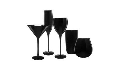 Glassware Collection - Midnight Black