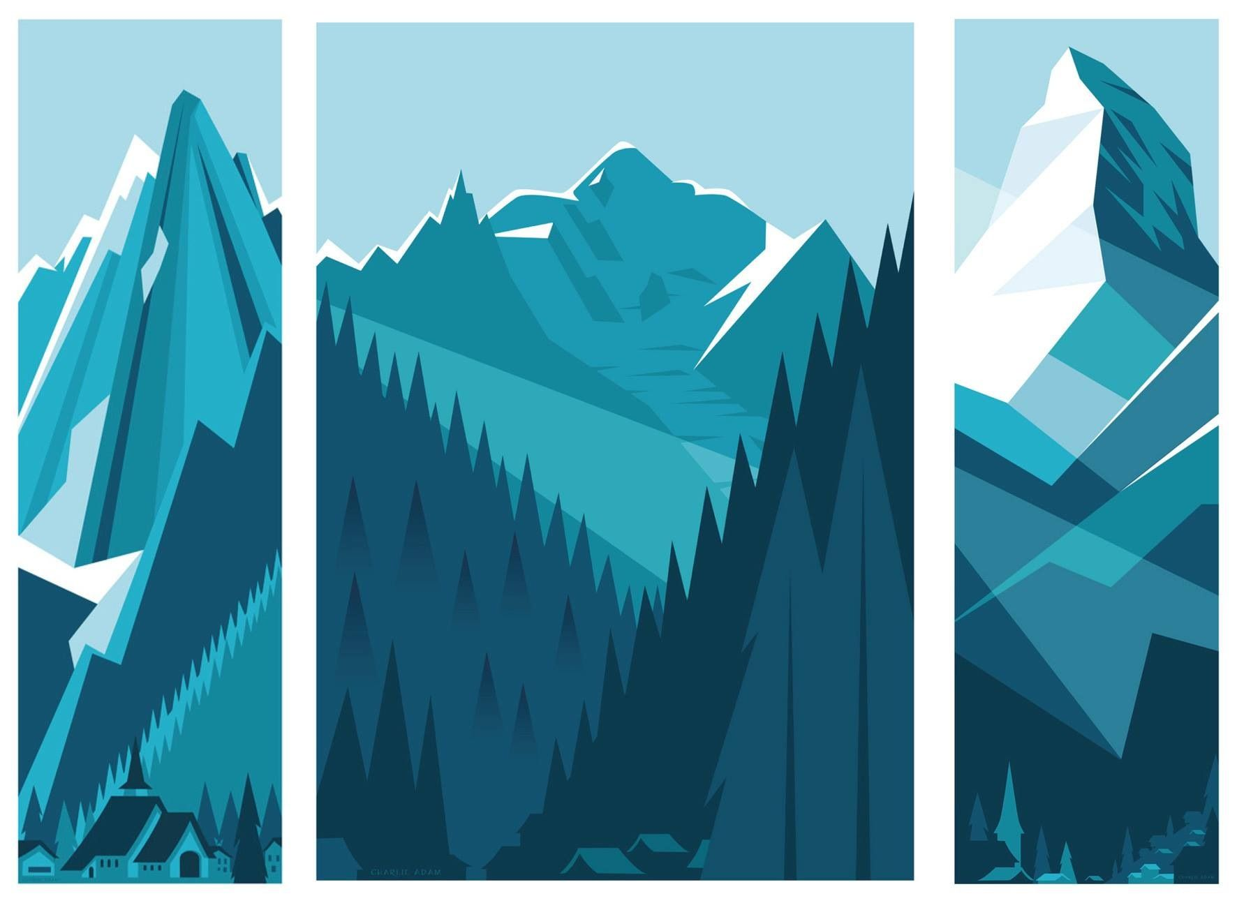 mountain graphic design pinterest illustration mountain