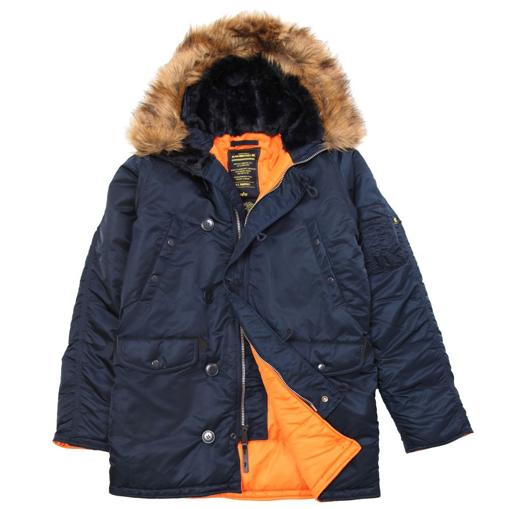 Alpha Industries Slim Fit N-3B Parka : Men's Flight Jackets 1000 ...