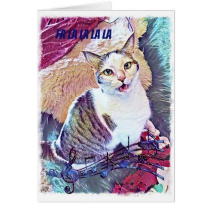 Funny Cat Christmas Card Zazzle Com Christmas Cats Christmas Cards Holiday Design Card