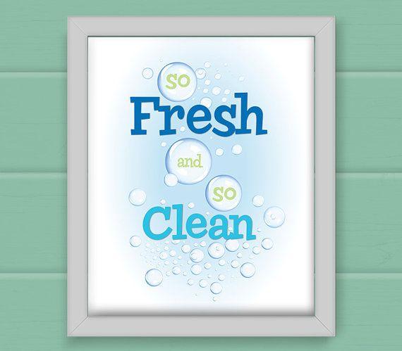 So Fresh And So Clean Children Kid S Bathroom Laundry Print Kids Bathroom Art Laundry Room Decor Bathroom Artwork