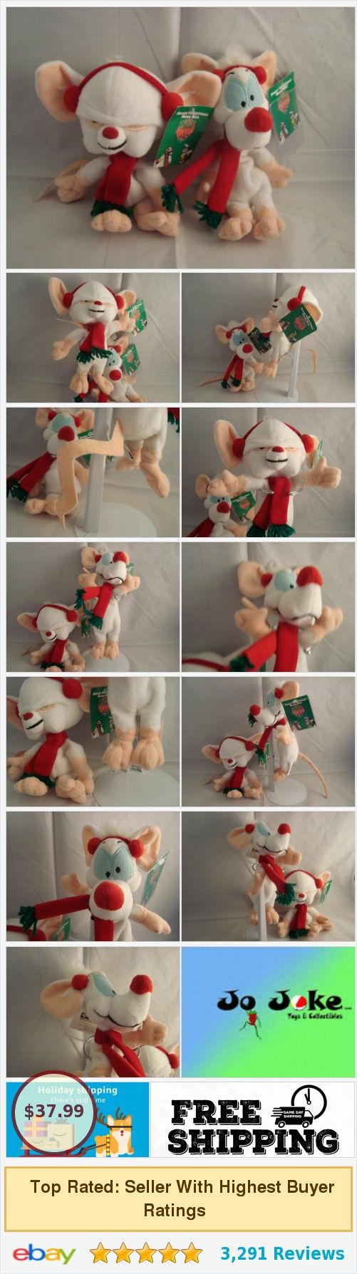 Details about WARNER BROS STUDIO STORE-PINKY&THE BRAIN-9-8-BEAN PLUSH SET-NEW/TAGS-UNIQUE #warnerbros