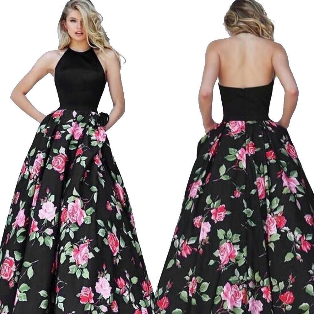 Floral printed long dress sleeveless fashion or fashionista
