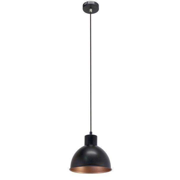 eglo truro hanglamp zwart koper 21 cm afbeelding 1
