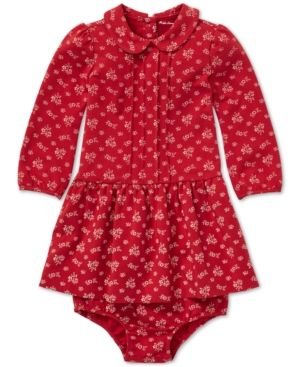 f6b40cba Polo Ralph Lauren Baby Girls Floral-Print Dress - Red 6 months ...
