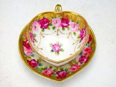 heart shaped coffee cup and saucer - Google Search