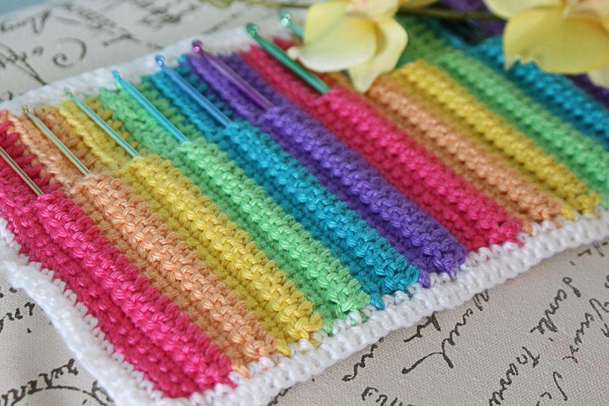 Armchair Caddy Pattern   LivinginAmethyst: Crochet Hook Organizer ...