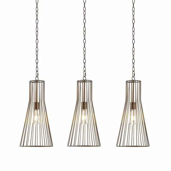 Brayden Studio Tommen 3 Light Kitchin Island Pendant Reviews Wayfair Pendant Light Pendant Lighting 3 Light Pendant