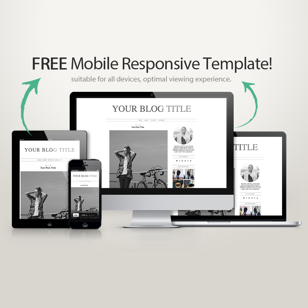 Simple blogger template & it\'s free! | Free Blog Template ...