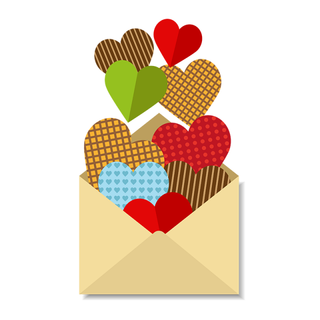 Letter With A Lot Of Hearts Love Lovers Husband Png And Vector