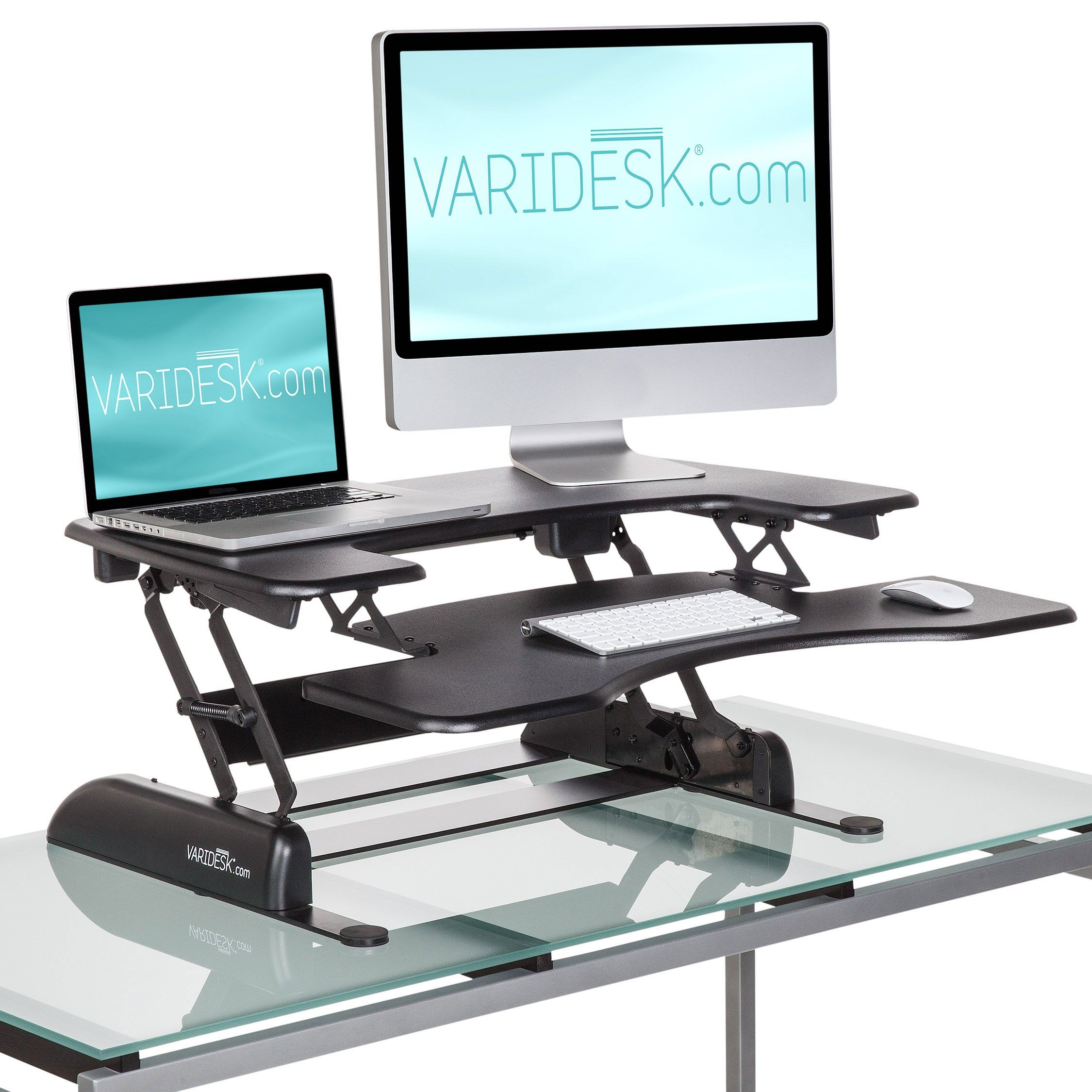 Varidesk Pro Plus Height Adjustable Standing Desk With Keyboard Tray Varidesk Adjustable Height Standing Desk Adjustable Standing Desk
