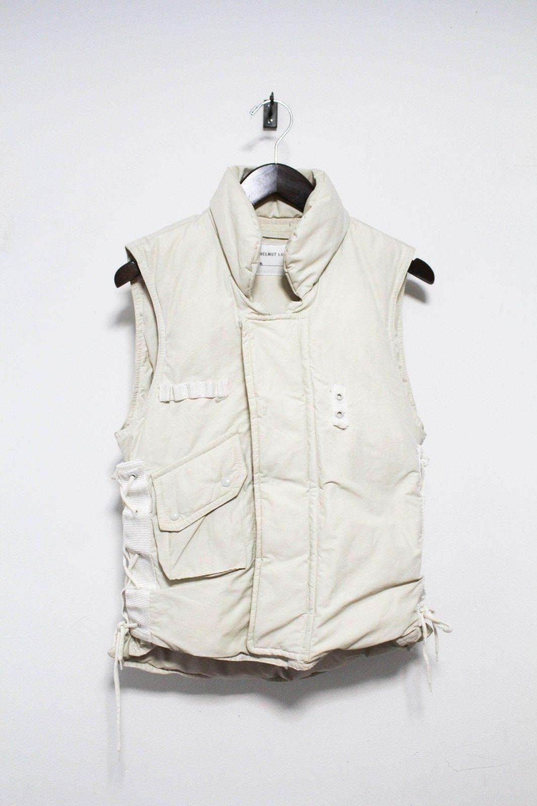 Helmut Lang Fw 1999 Vintage Archive Goosedown Military Vest Jacket Workwear Vintage Military Vest Jacket Helmut Lang