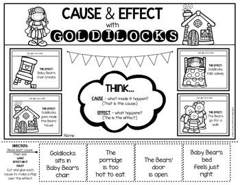 Cause And Effect Worksheet For Kindergarten First Grade Lift The Flaps Make It Interactive Fun After To Listening An Old Favorite Little Red