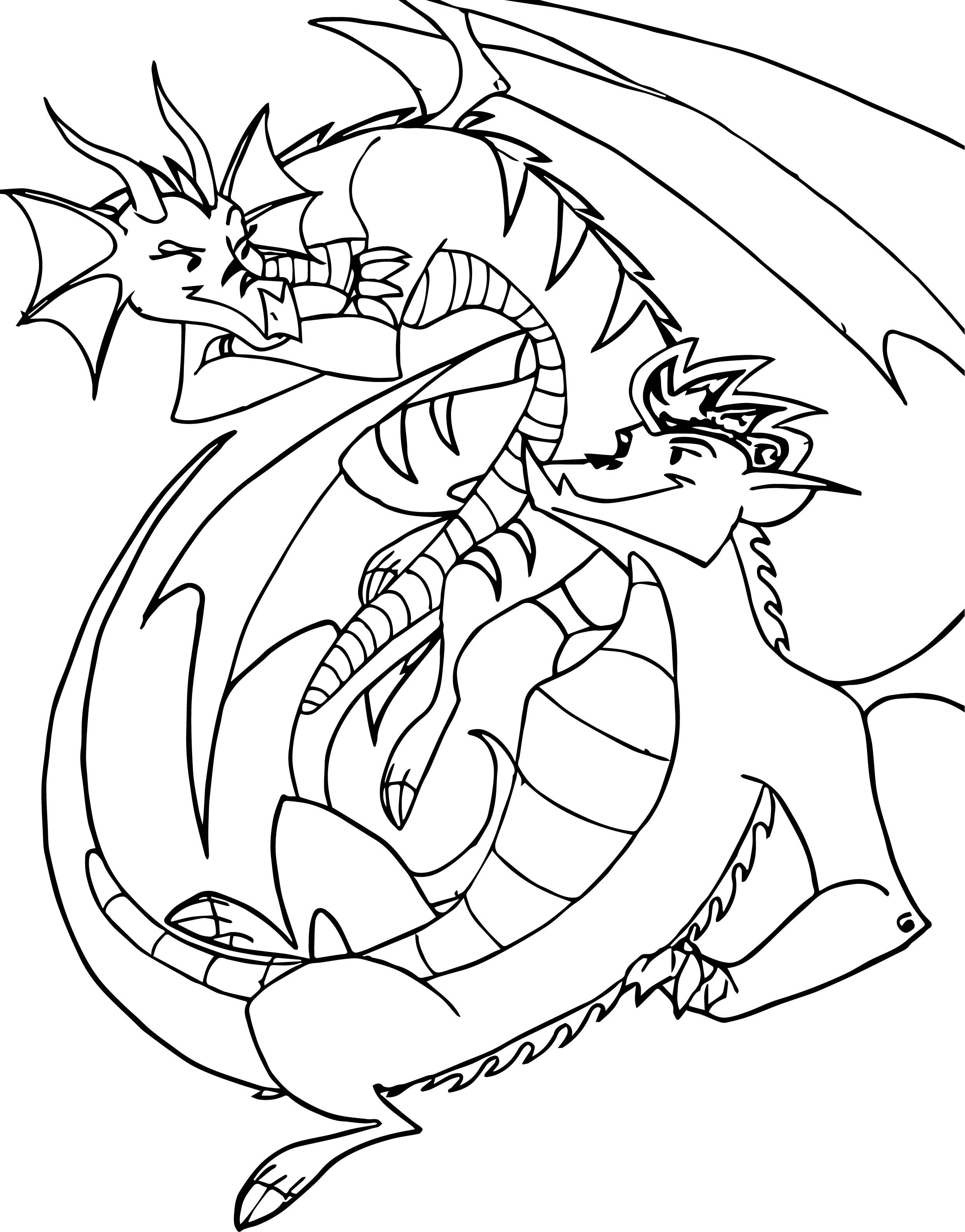 Awesome American Dragon Jake Long Girl And Man Coloring Page