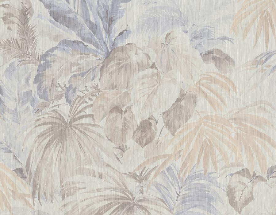 Parato floreale foresta tropicale fondo bianco e foglie