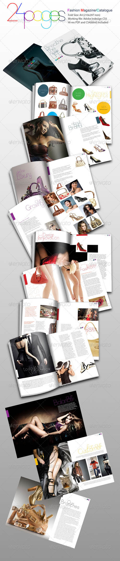 FREE 24 Pages Fashion Magazine and catalogue template (indesign ...