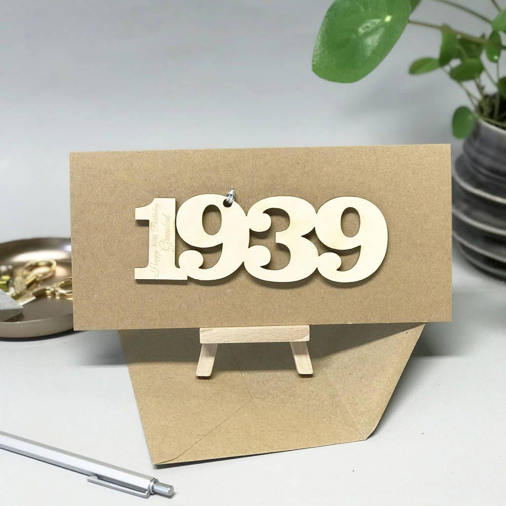 Personalised 80th Birthday 1940 Year Card 80th Birthday Cards Birthday Card With Name Happy Birthday Cards
