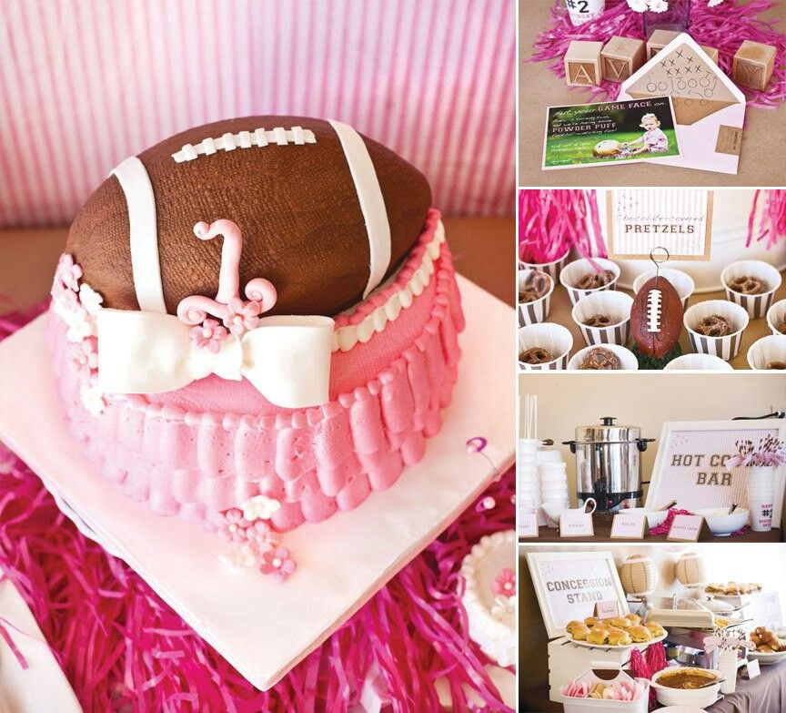 POWDERPUFF Football Pink Cake. I Just Plain Old Adore This