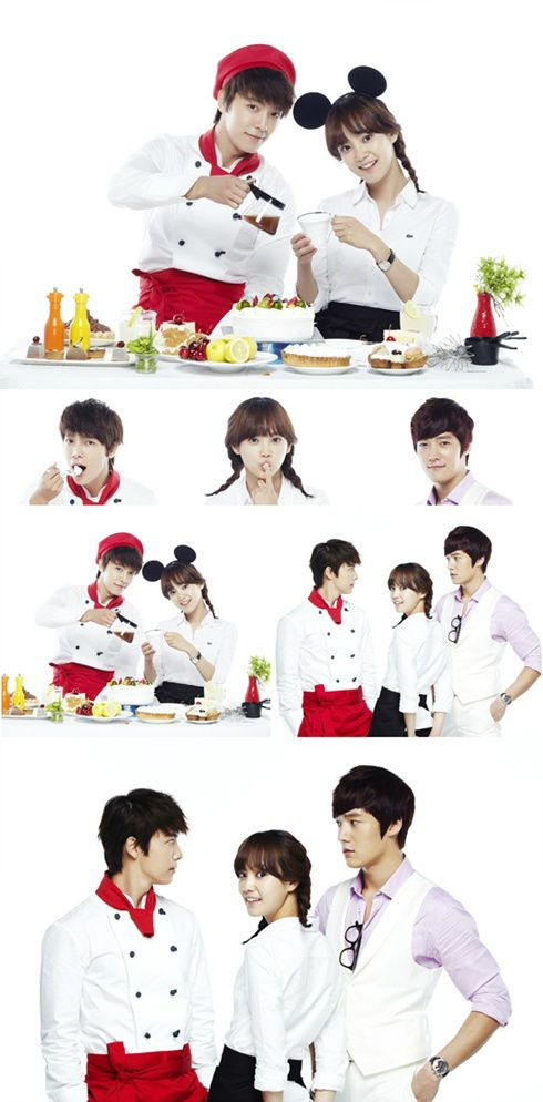 """Donghae and Yoon Seung Ah in """"Miss Panda and Hedgehog"""", coming 8/18 to Channel A. Choi Jin Hyuk who also stars, will most likely complete the love triangle. I belatedly realized that Choi Jin Hyuk played Donghae's brother in """"It's Okay, Daddy's Girl"""". ALSO, Choi Jin Hyuk recently revealed that he's dating Son Eun So, who happened to be paired with Donghae briefly in a WGM episode. Let's hope Donghae wins the girl in this drama!"""
