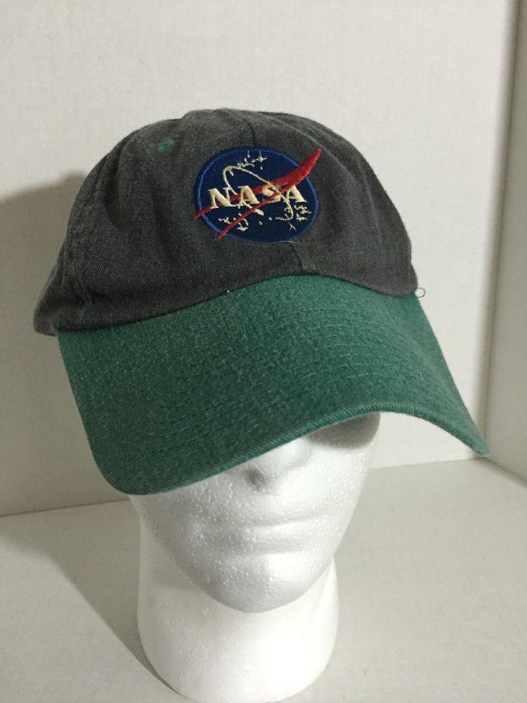 672b1726552 True Vintage 80's Blue Gray NASA Patch Snapback Hat Baseball Cap Retro Rare  #ProgressiveSpecialtiesInc #BaseballCap