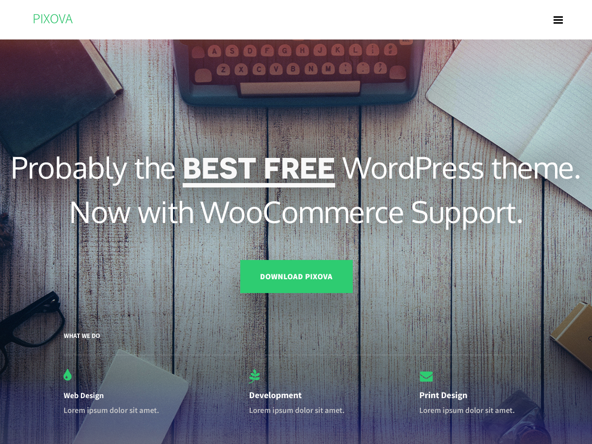 Pixova Lite Theme ‹ A WordPress Site — WordPress - One Page Parallax ...