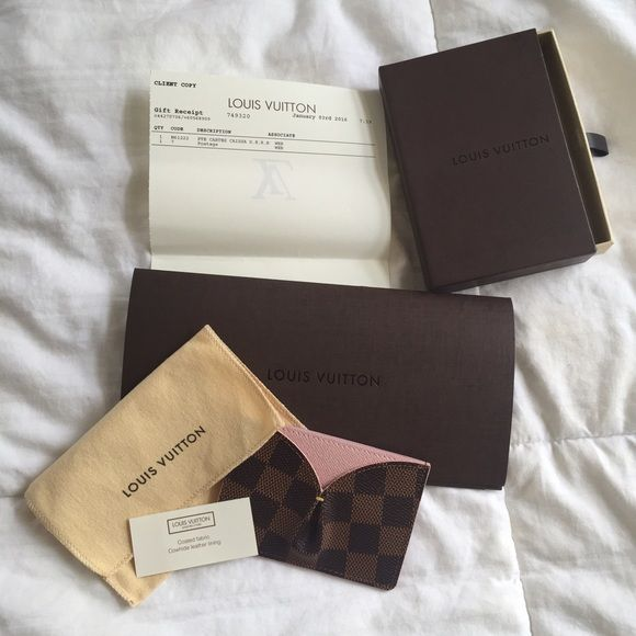 BRAND NEW and AUTHENTIC Louis Vuitton Card Case Completely brand ...