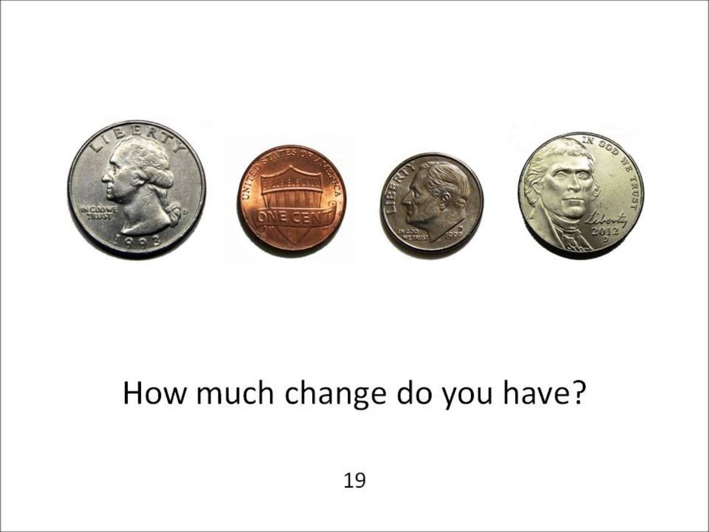 Introduction To U S Money For Esl Students