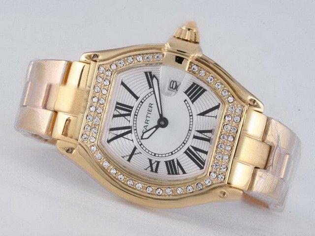 Cartier-Watch-Roadster-Watch-Full-Gold-Diamond-Bezel-White-Dial-Lady-Size