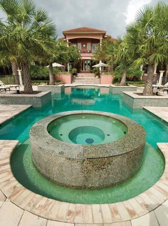 Dream backyard with pool & spa | Hot tub surround, Dream ... on Dream Backyard With Pool id=48866
