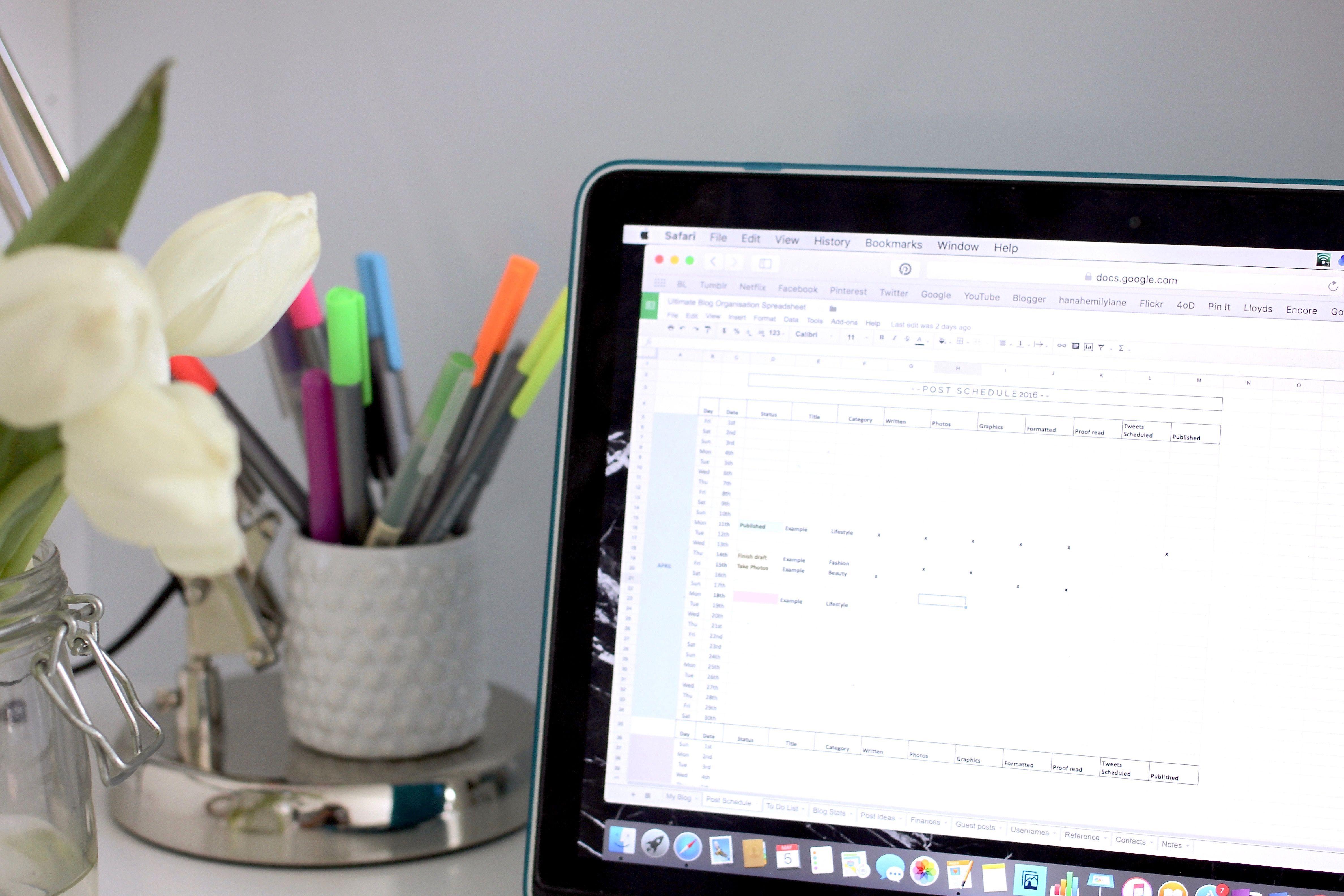 The Ultimate Blog Organisation Spreadsheet