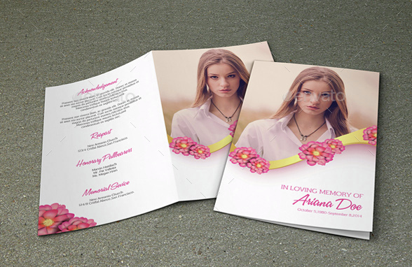 Modern Funeral Brochure Template Word Format  School Brochure