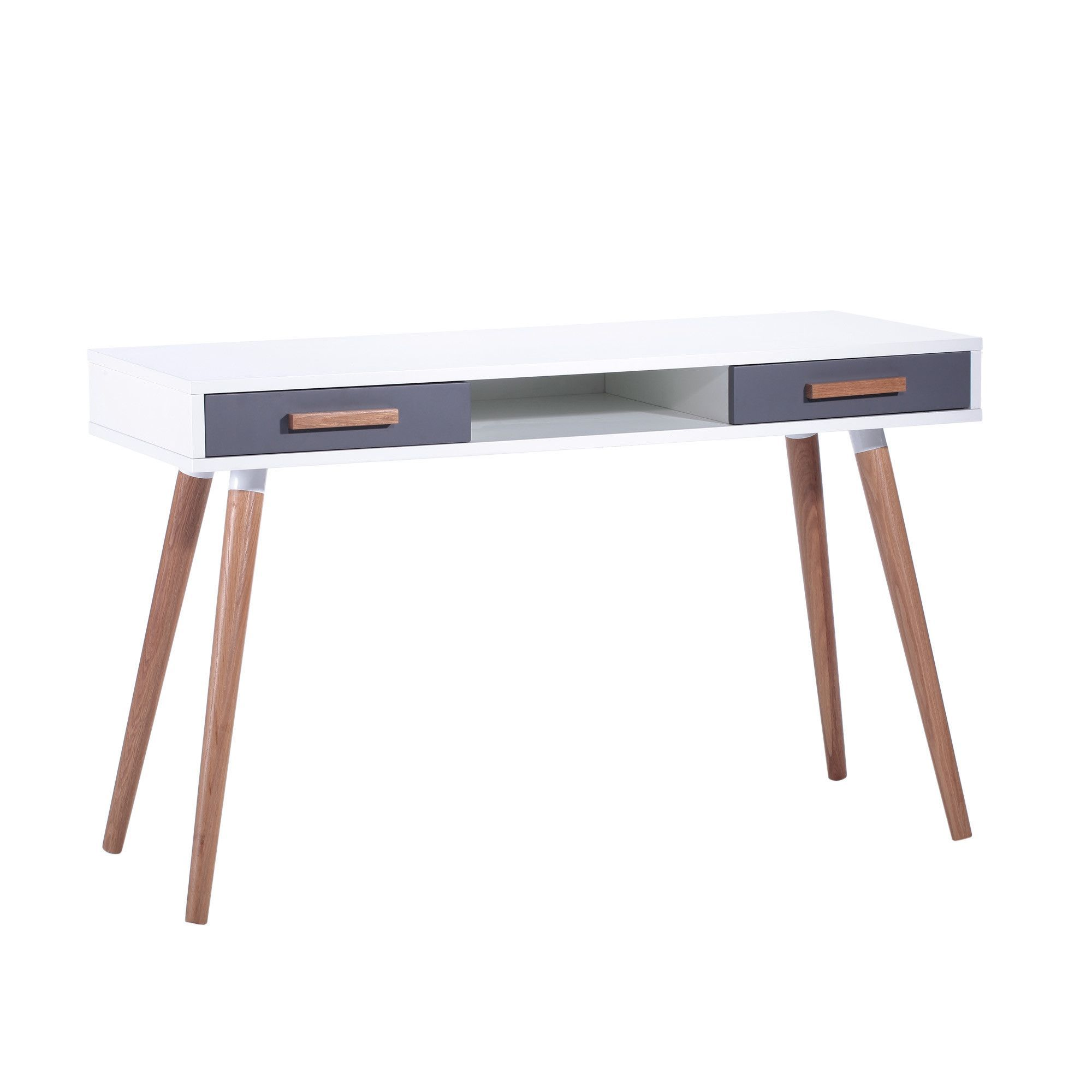 Retro Writing Desk with 2 Drawers