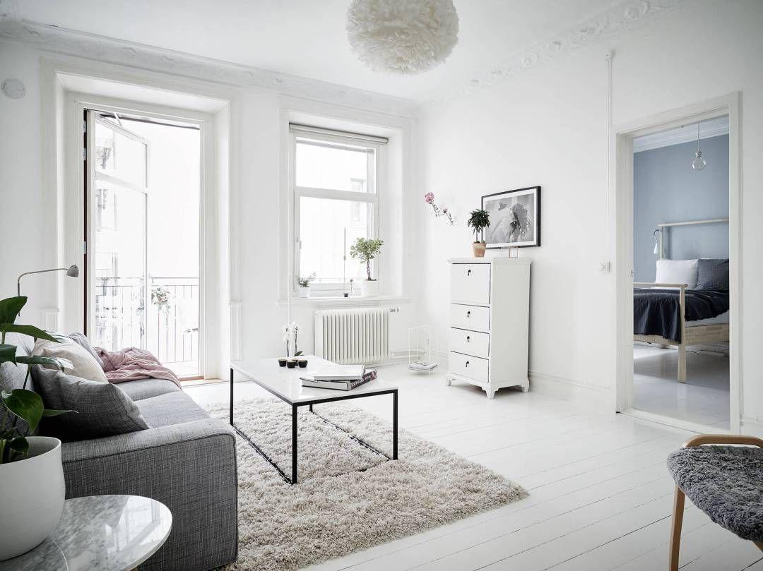 Refrescar una decoraci n con el color blanco decoracion - Salones estilo nordico ...
