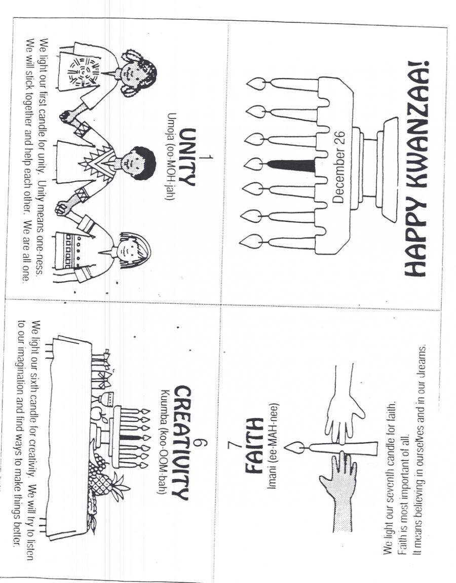 Kwanzaa Foldable Book   Happy kwanzaa [ 1151 x 900 Pixel ]