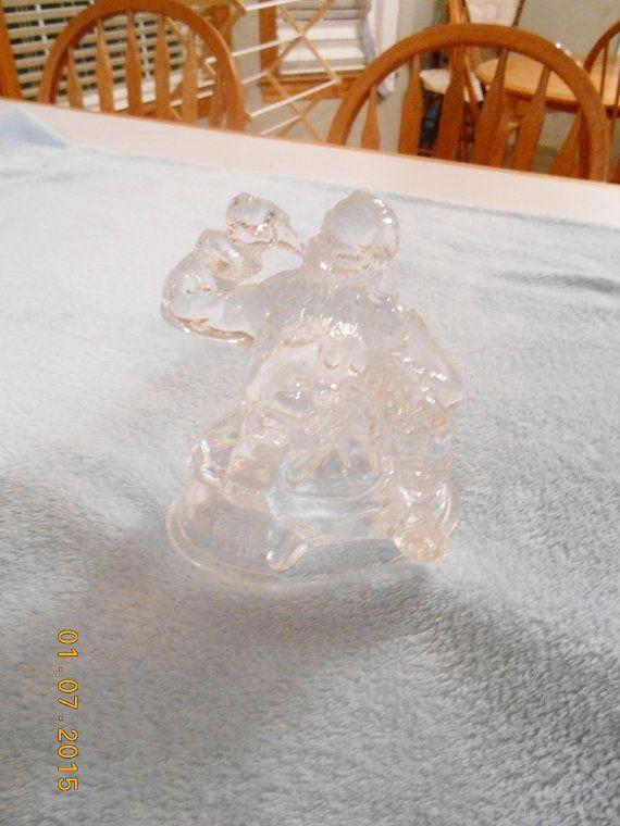 Vintage Amazing Santa COCA COLA Lead Crystal by CountryMileCottage