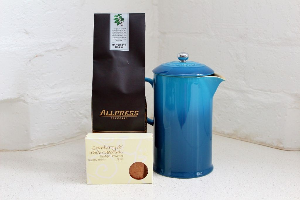 Le creuset french coffee press and fresh allpress coffee