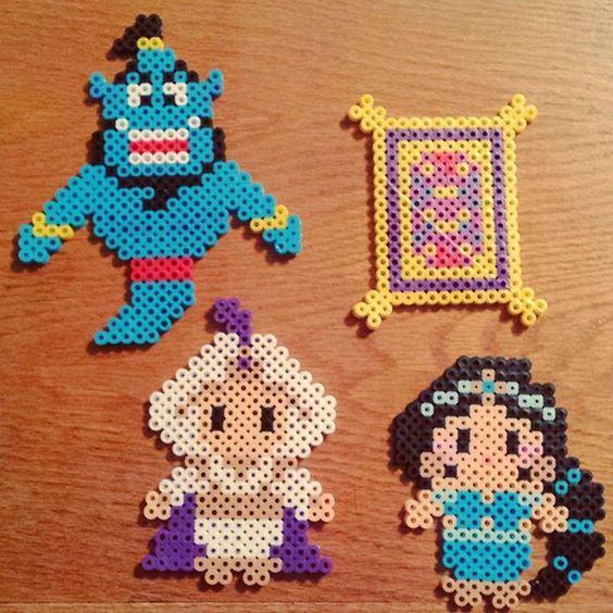 Aladdin Perler Bead Inspiration  | {D I Y } | Perler beads
