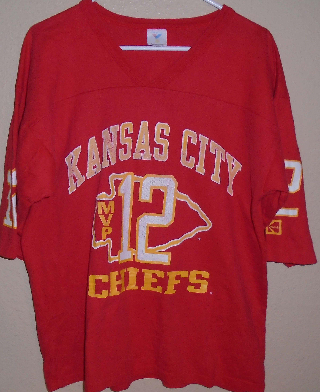 321fe8f1 vintage Kansas City Chiefs jersey t shirt Large   vintagerhino247 ...