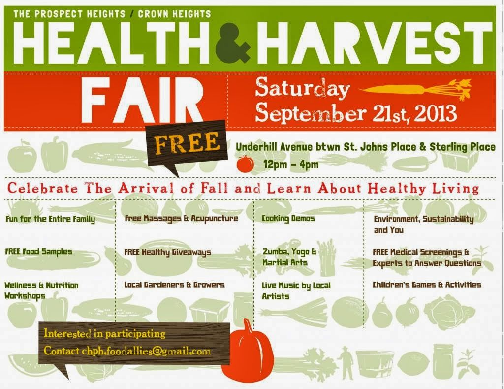 Healthy giveaways for health fair