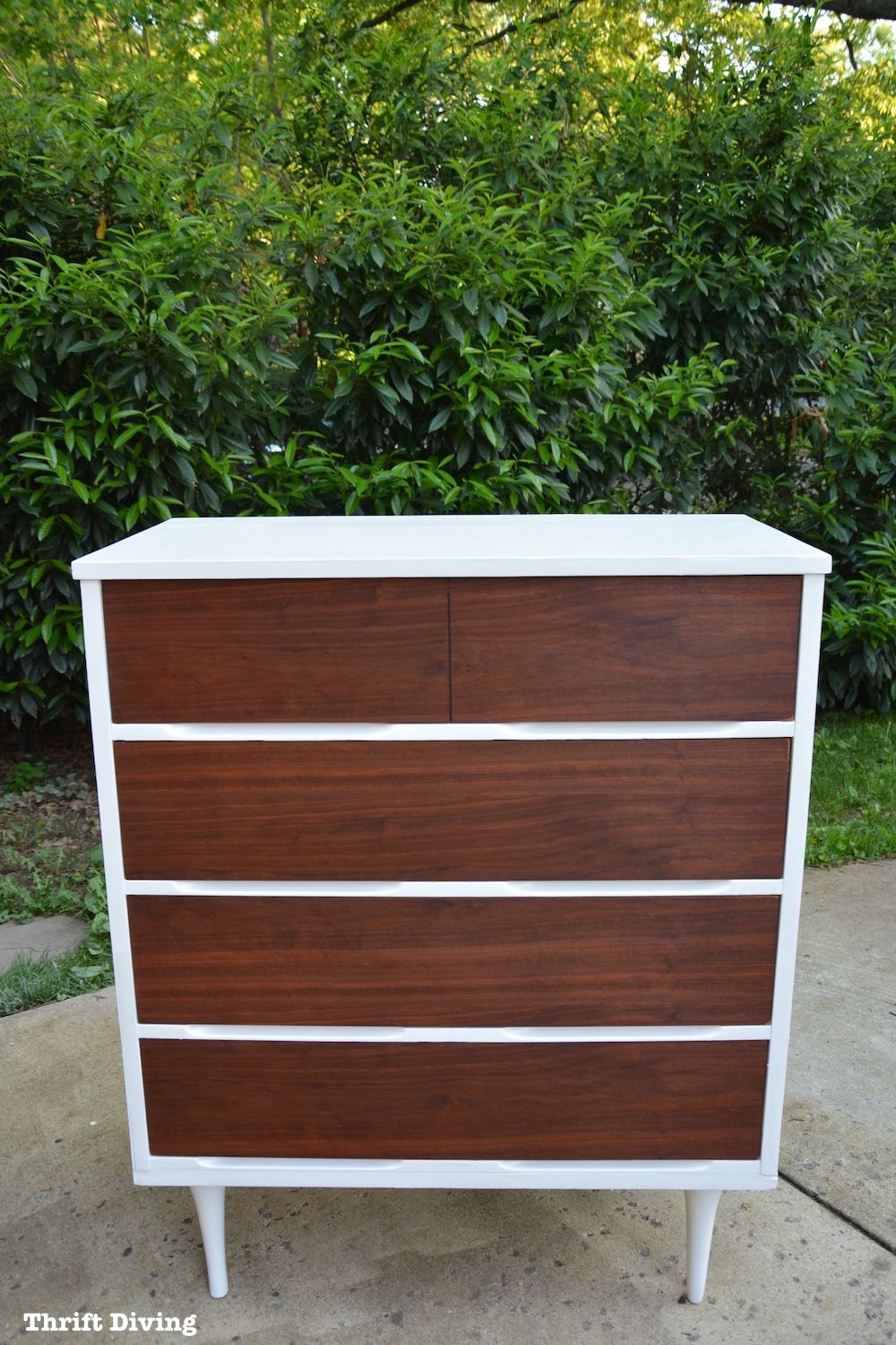 Best Before After Mid Century Modern Dresser Makeover Mid 400 x 300