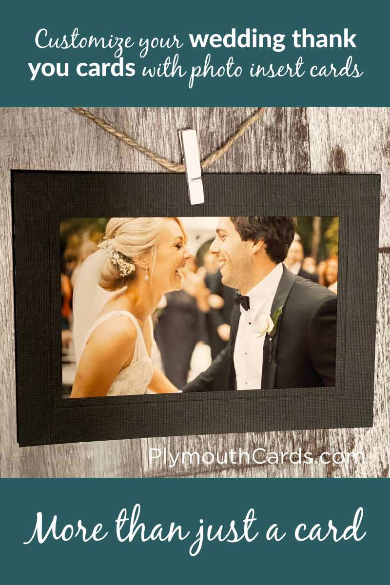 Custom Wedding Photo Insert Cards For